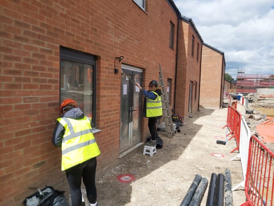 Facilco cleaning team working on a building site